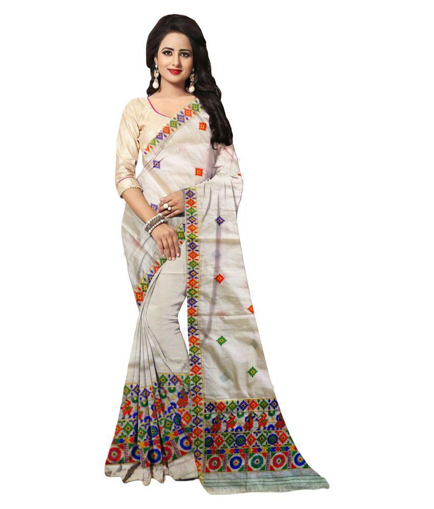 R.G.G'S Mekhela Chador Multicoloured Khadi Saree