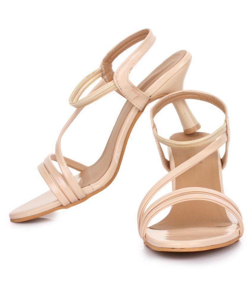 53274fd78a Beauty Queen Cream Kitten Heels Price in India- Buy Beauty Queen ...