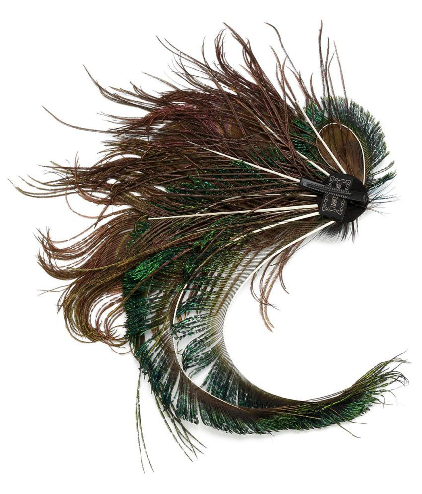 43e8cf24bdf30 ... Women Peacock Feather Hair Clip 1920s Headpiece Bridal Wedding Party  Hairwear Vintage Feather Headwear Hairgrips Hair ...