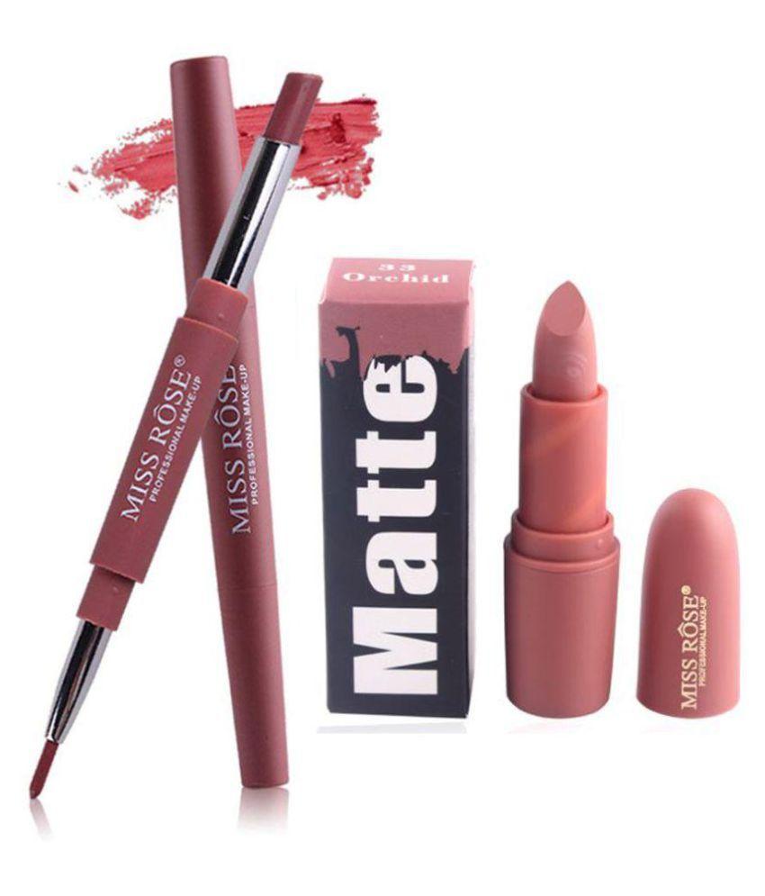 Miss Rose Creme Lipstick 2in1-01 + Bullet33 - 3 gm