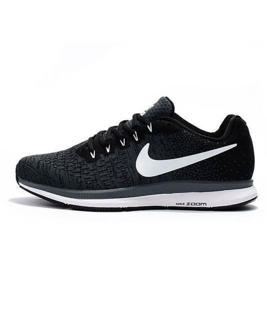 2872f837d3bf Nike Air Zoom Pegasus 33 Black Running Shoes - Buy Nike Air Zoom Pegasus 33  Black Running Shoes Online at Best Prices in India on Snapdeal