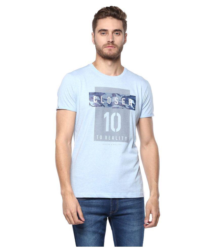 Octave Blue Half Sleeve T-Shirt