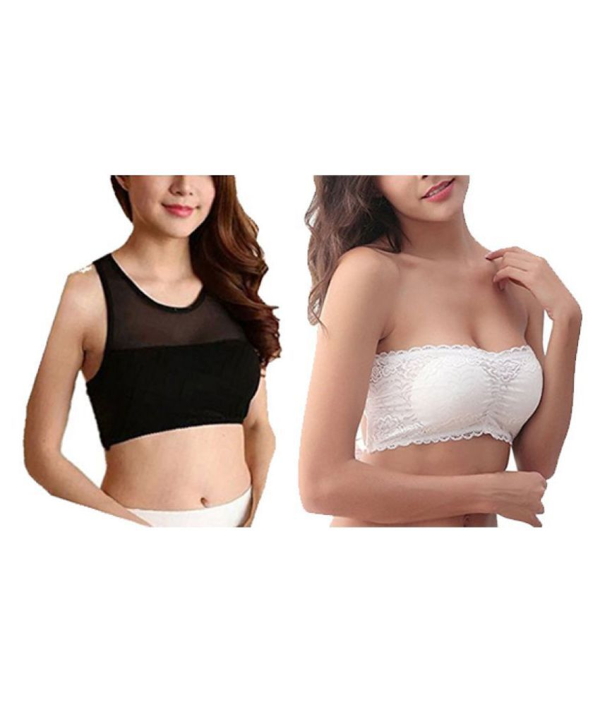 8804ea25ca Buy Shoppy Villa Lace Tube Bra - Multi Color Online at Best Prices in India  - Snapdeal