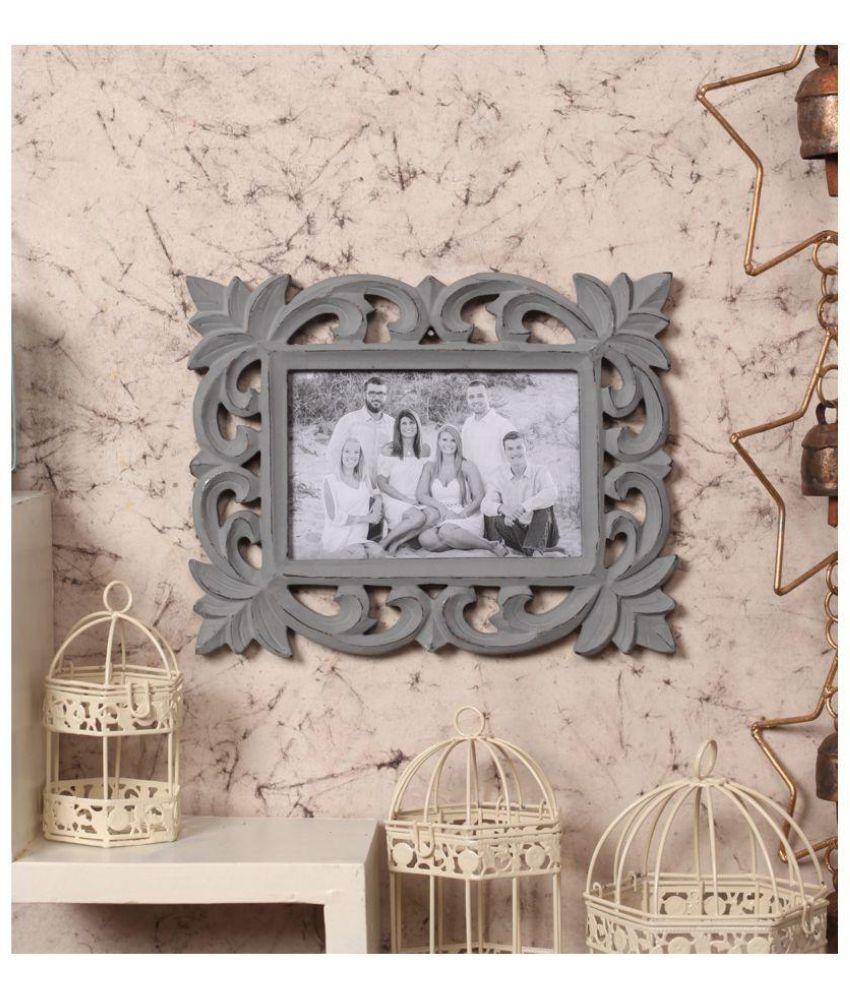 Yatha Wood Grey Single Photo Frame - Pack of 1