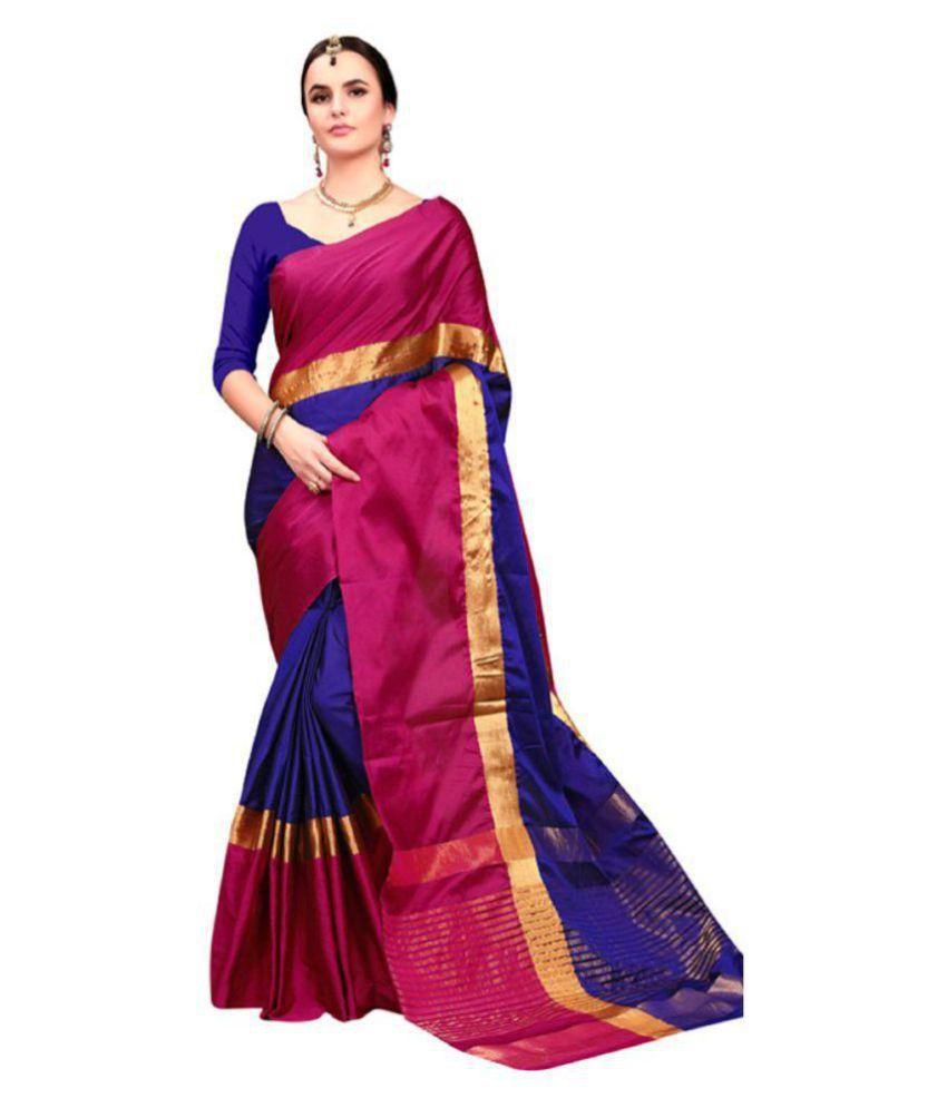 Ruchika Fashion Multicoloured Cotton Silk Saree