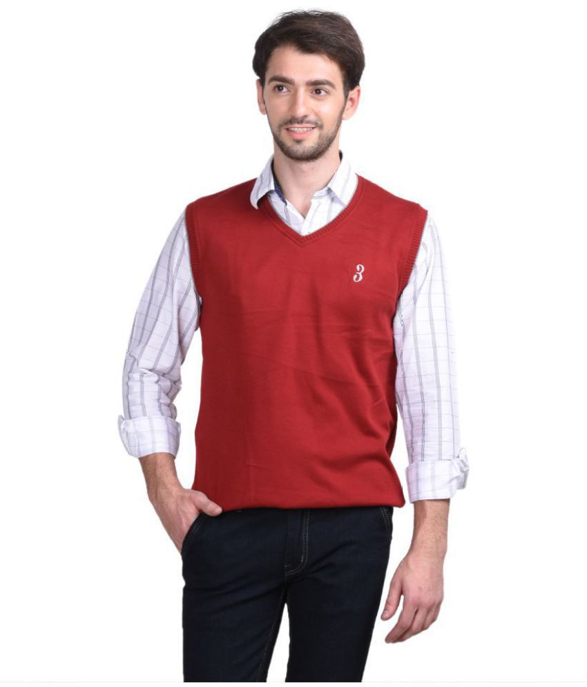 Concepts Maroon V Neck Sweater