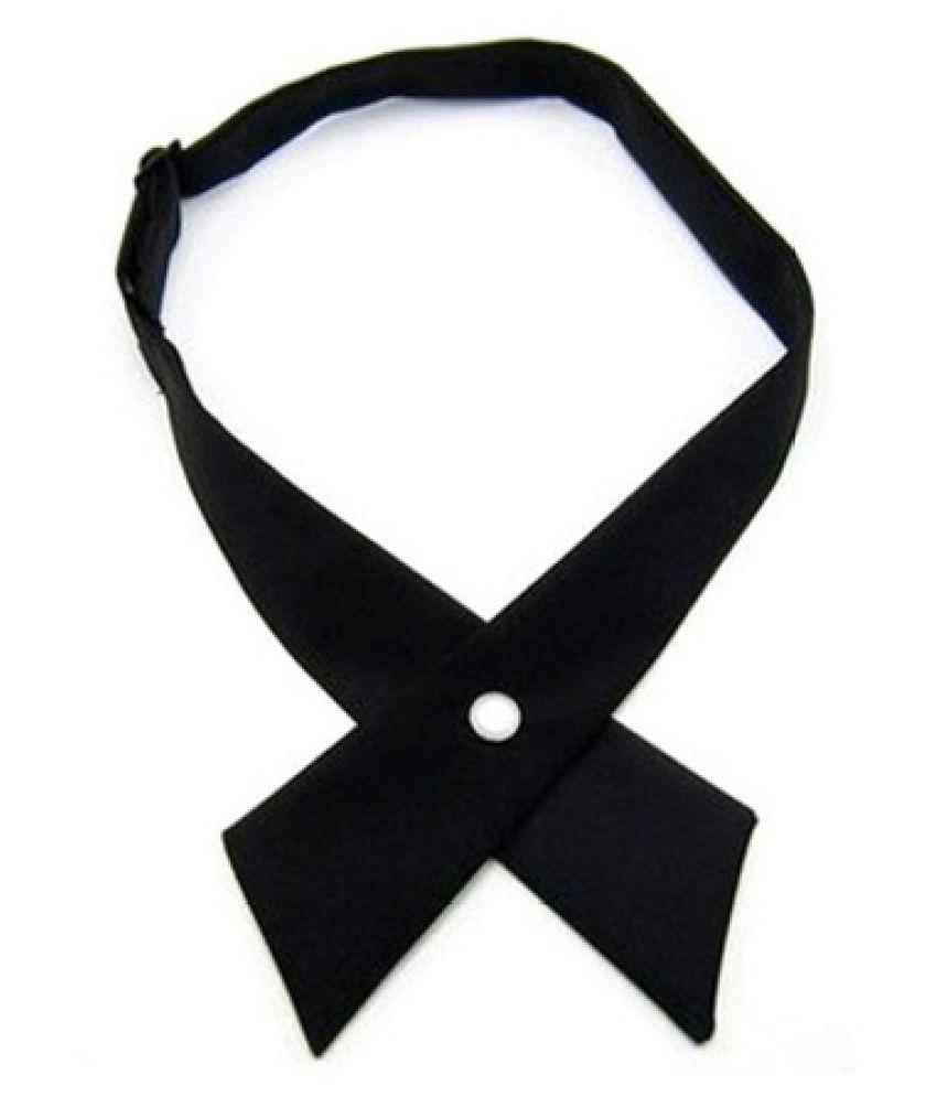 Kamalife Black Printed Polyester Necktie