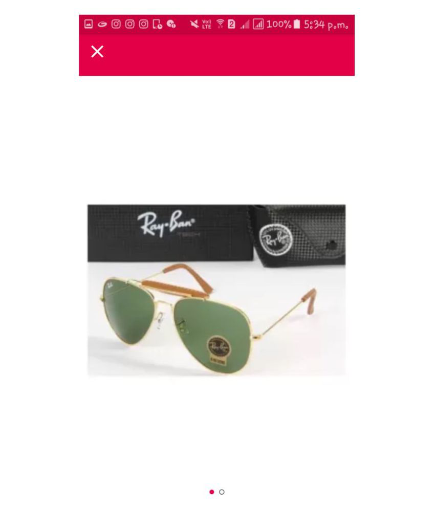 0c3649977db Buy Swag Green Aviator Sunglasses ( HT3025 ) at Best Prices in India -  Snapdeal