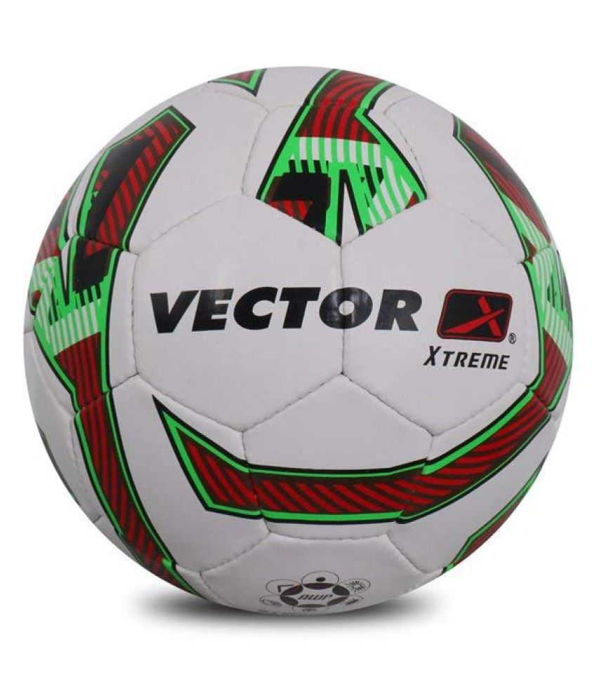 Vector X XTREME WHITE RED GREEN 5 Football Size  5