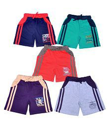 1LY GARMENTS Boys Shorts with Side Pocket, Pack of 5
