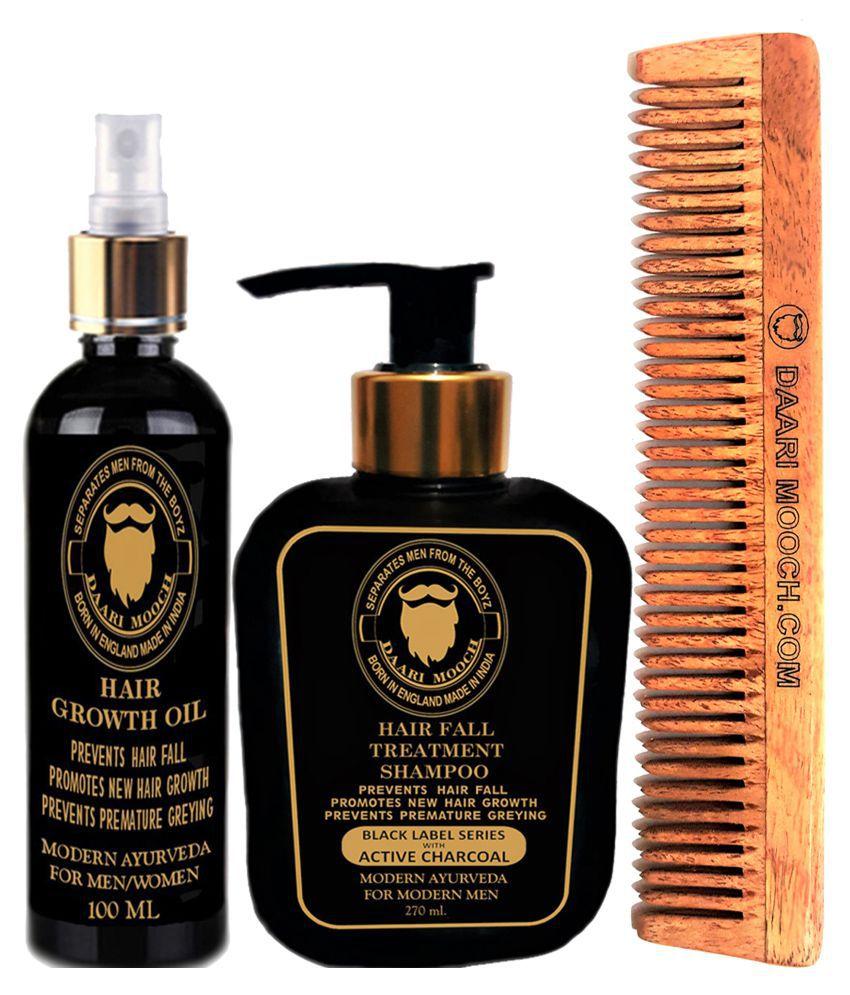 DAARIMOOCH Ayurvedic Hair Fall Treatment Kit- Anti Hair Fall Shampoo 370 mL Pack of 3