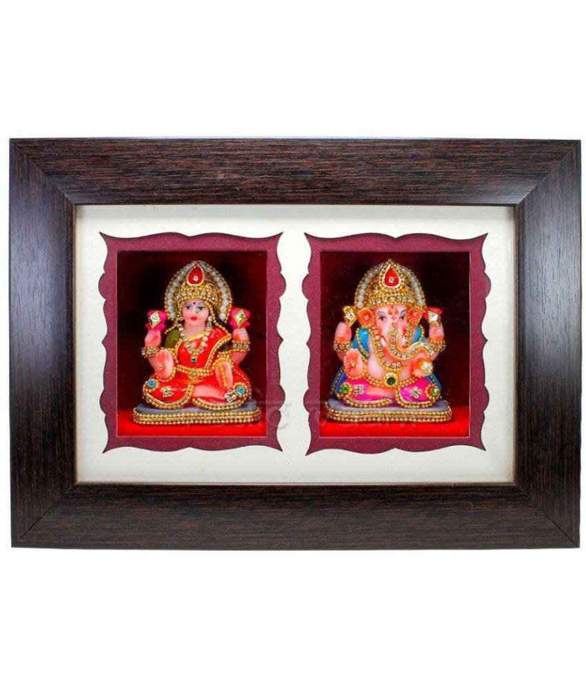 Vedic Vaani Ceramic TableTop Brown Single Photo Frame - Pack of 1