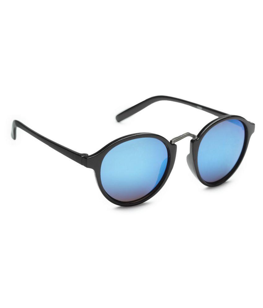Get Glamr Blue Oval Sunglasses ( SG-LT-MT-038-8 )