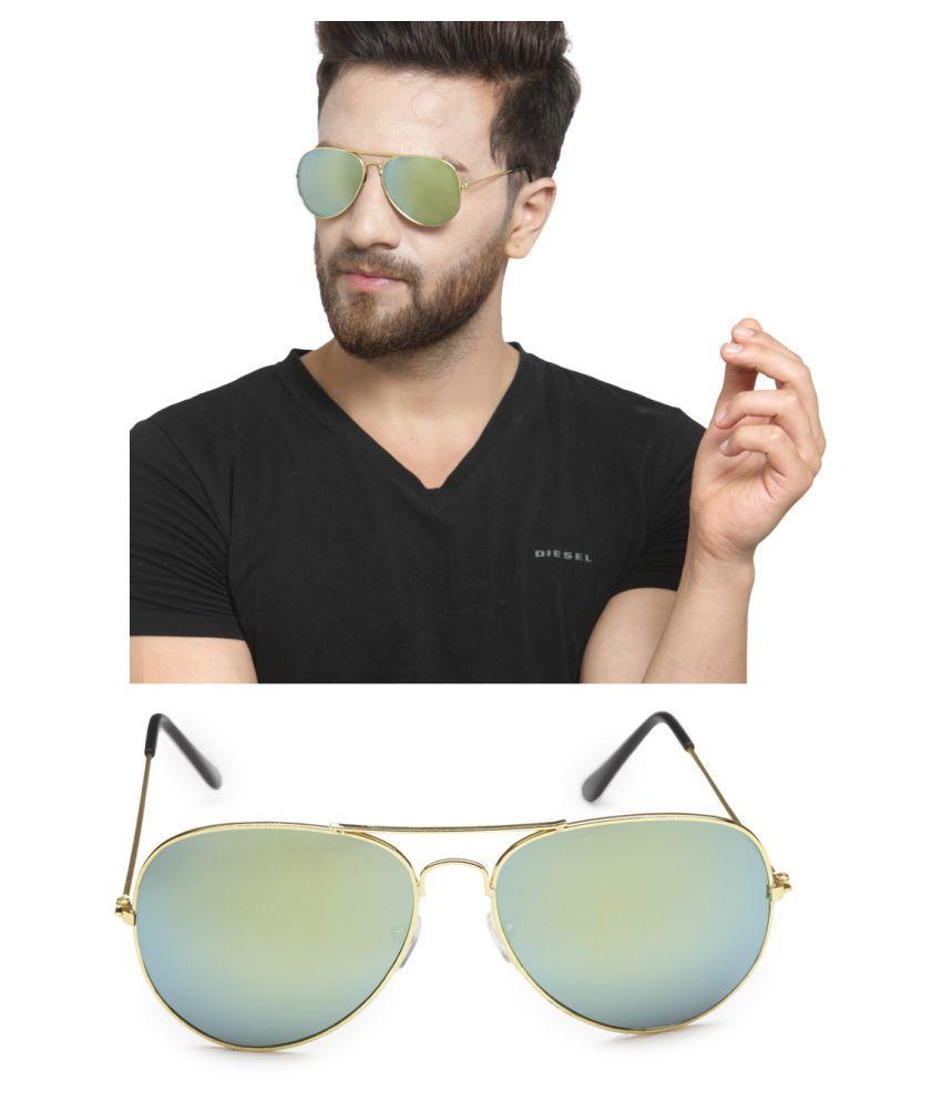 Get Glamr Green Aviator Sunglasses ( SG-UN-MT-087-8 )