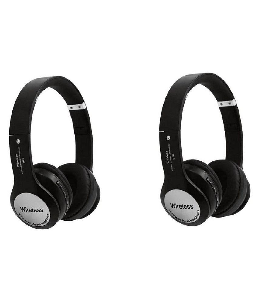 Meckwell B20-B1 combo Wireless Bluetooth Headphone Black