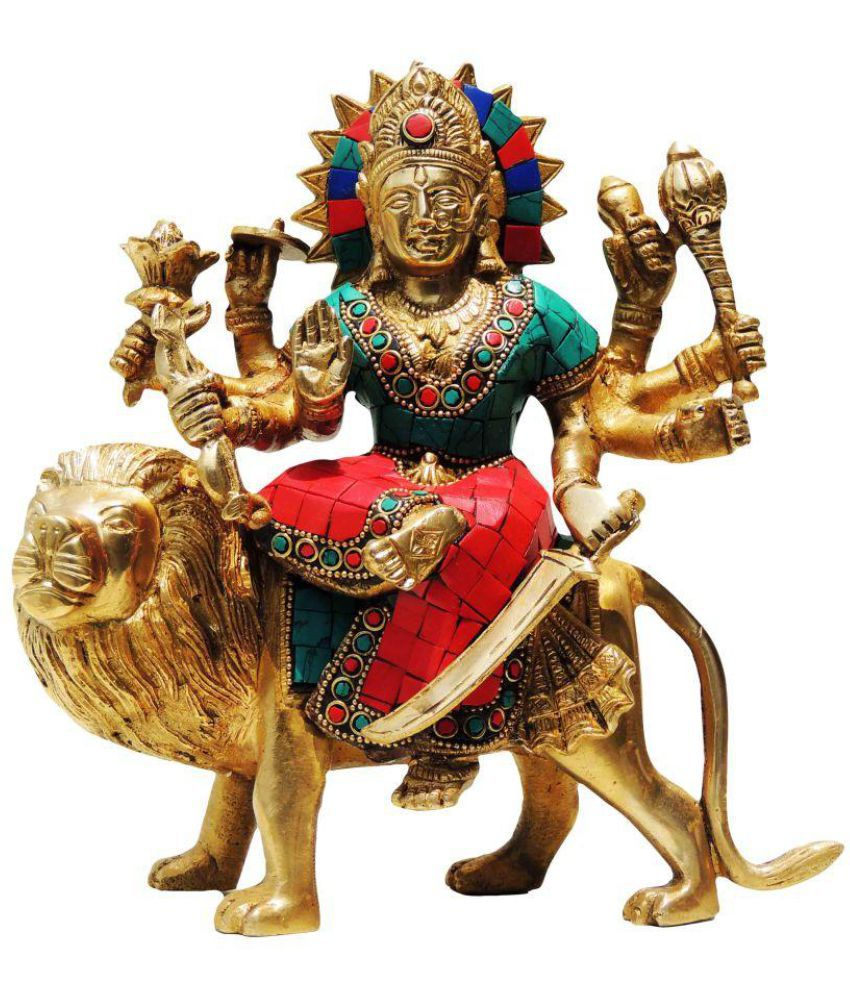Brass Gift Center Durga Brass Idol