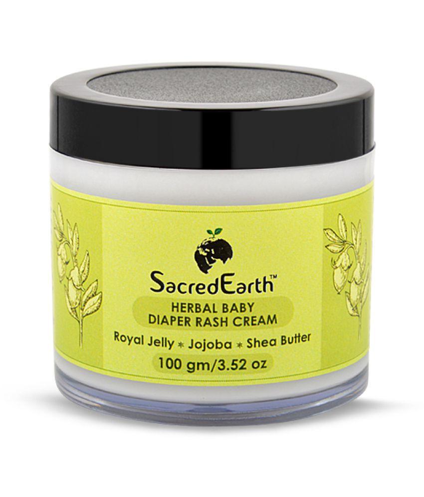 SacredEarth Herbal Baby Diaper Rash Cream - with Royal Jelly, Jojoba and Shea Butter - 100g