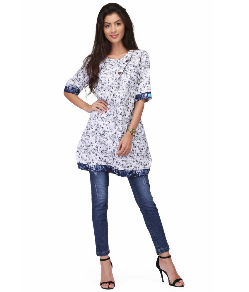 VICVIM Cotton Blue Fit And Flare Dress