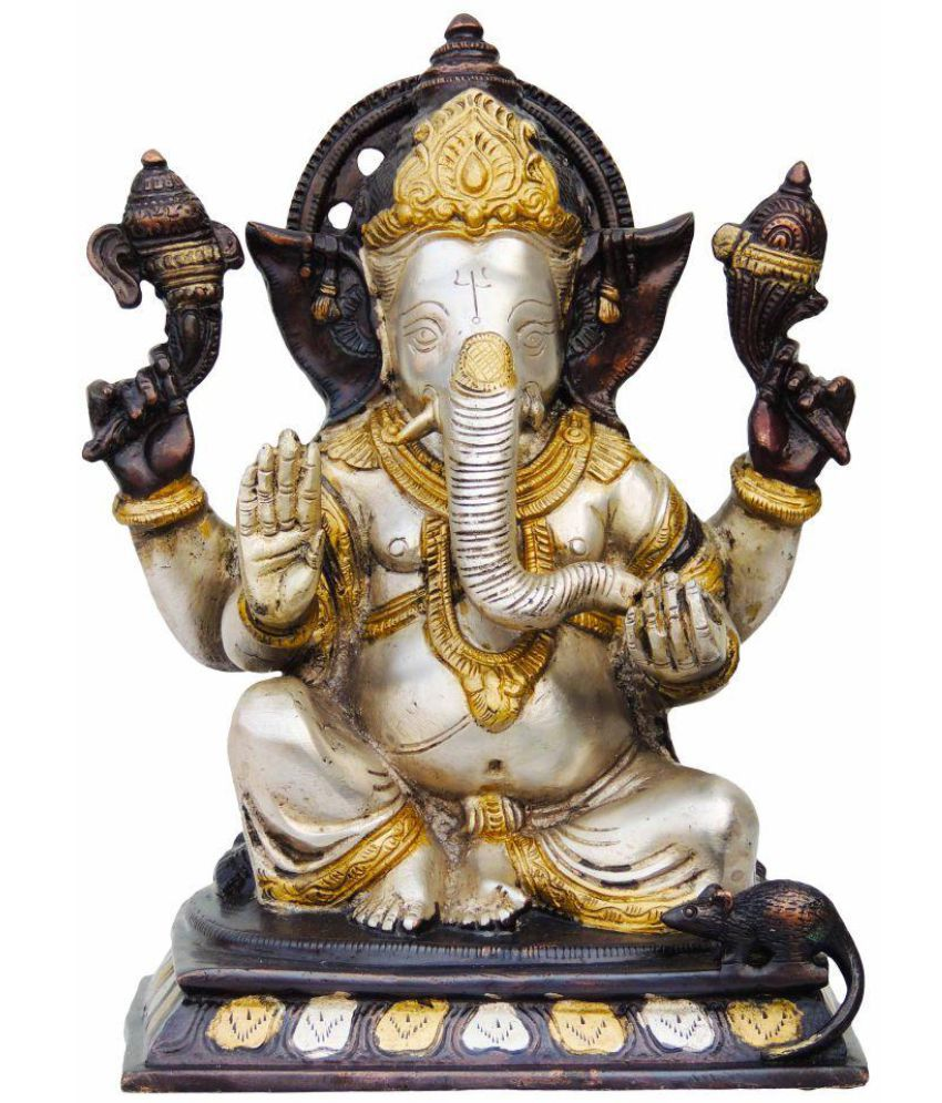 Brass Gift Center Ganesha Brass Idol