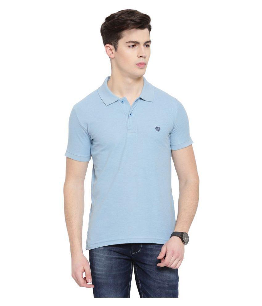 Duke Blue Regular Fit Polo T Shirt