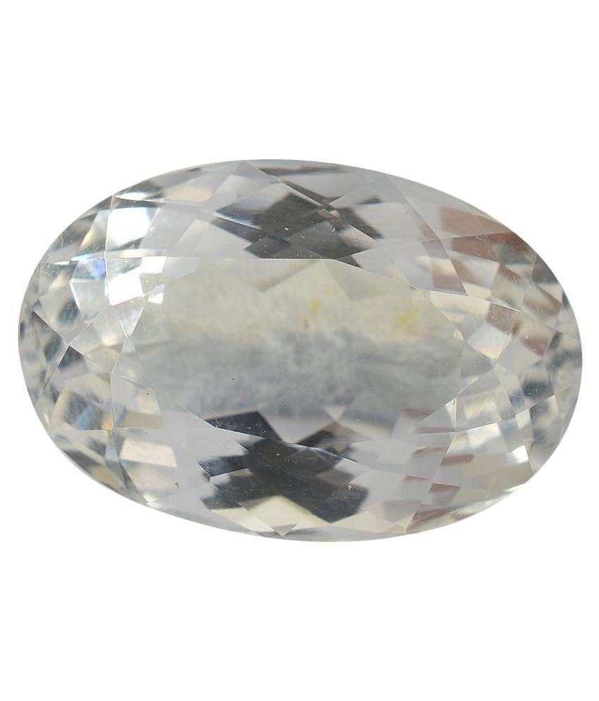 pitliya jewellers 10 -Ratti Self certified White Quartz Semi-precious Gemstone