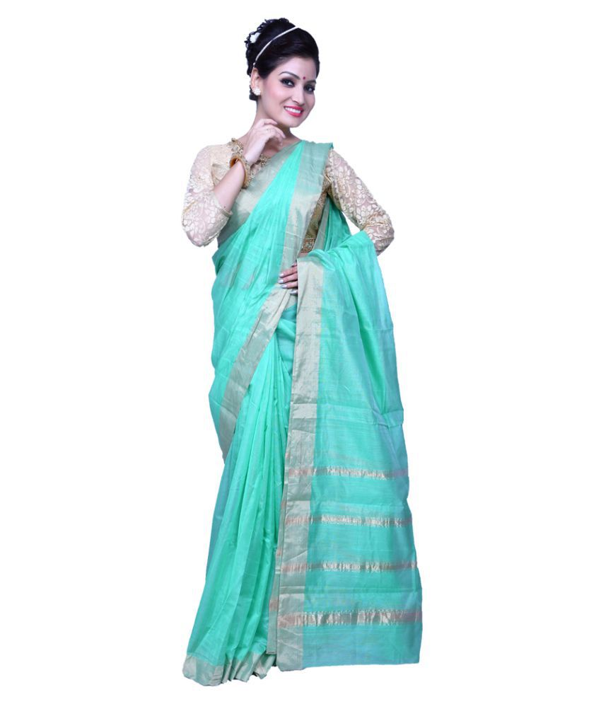 Bridaal Royal Blue Maheshwari silk Saree