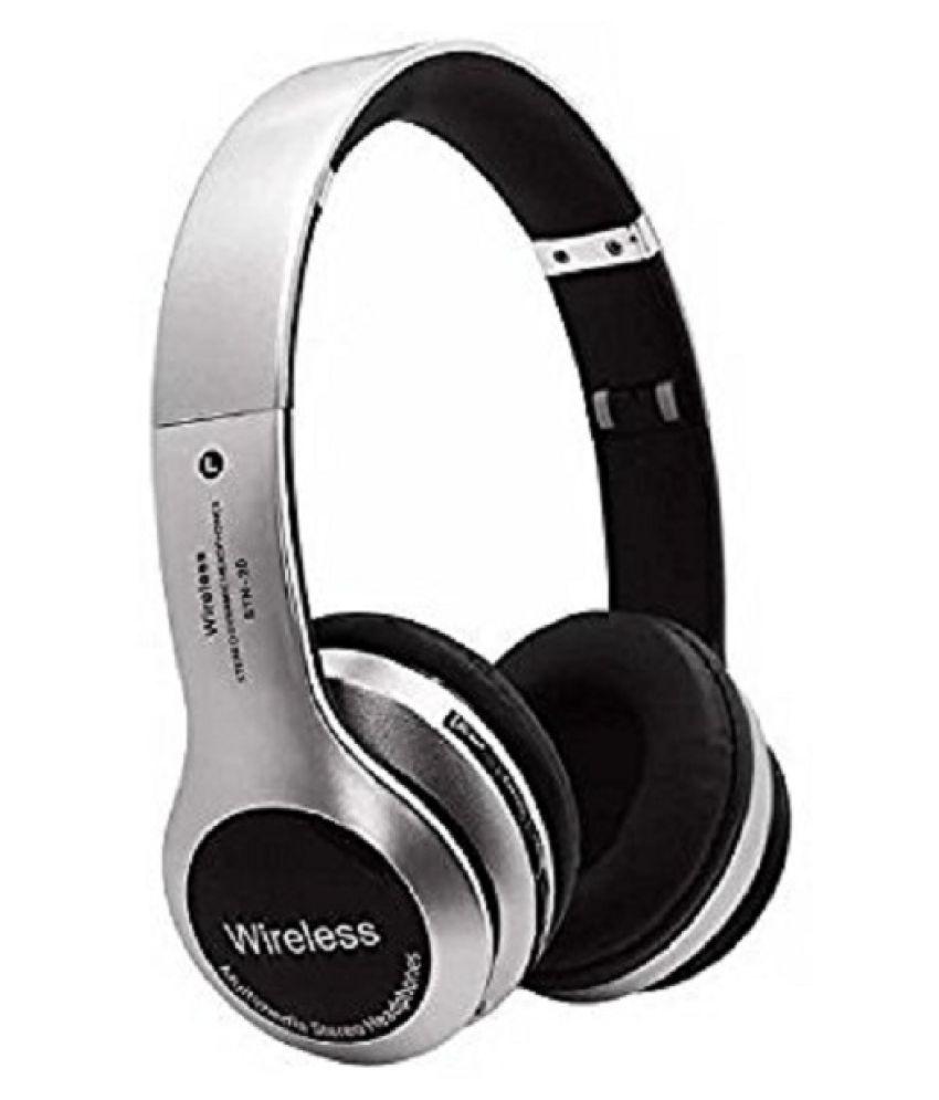 Avika B20-premium Wireless Bluetooth Headphone Silver