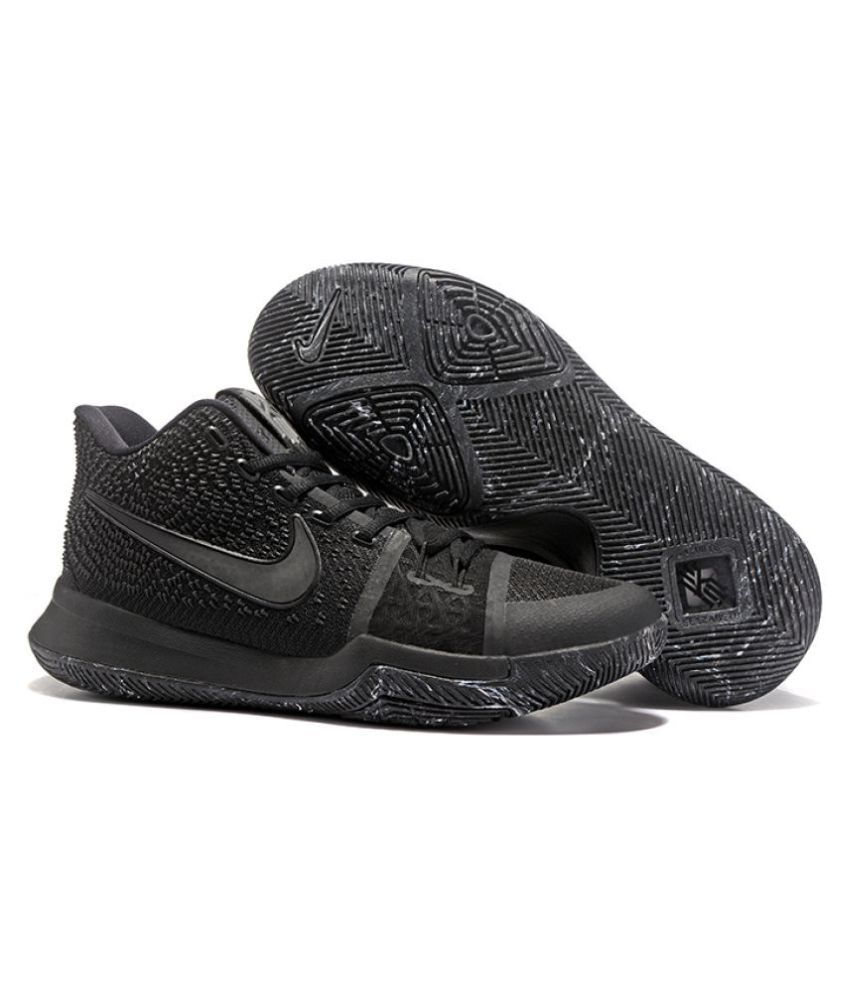 promo code 89813 9814a Nike Kyrie 3 Black Basketball Shoes - Buy Nike Kyrie 3 Black Basketball  Shoes Online at Best Prices in India on Snapdeal