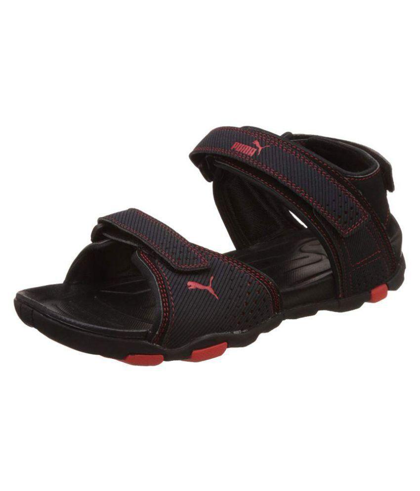 6c151fd48b1e Puma Men s Helium IDP Athletic   Outdoor Black Synthetic Floater Sandals - Buy  Puma Men s Helium IDP Athletic   Outdoor Black Synthetic Floater Sandals ...