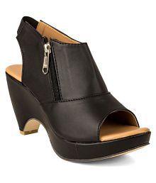 Cute Fashion Black Cone Heels