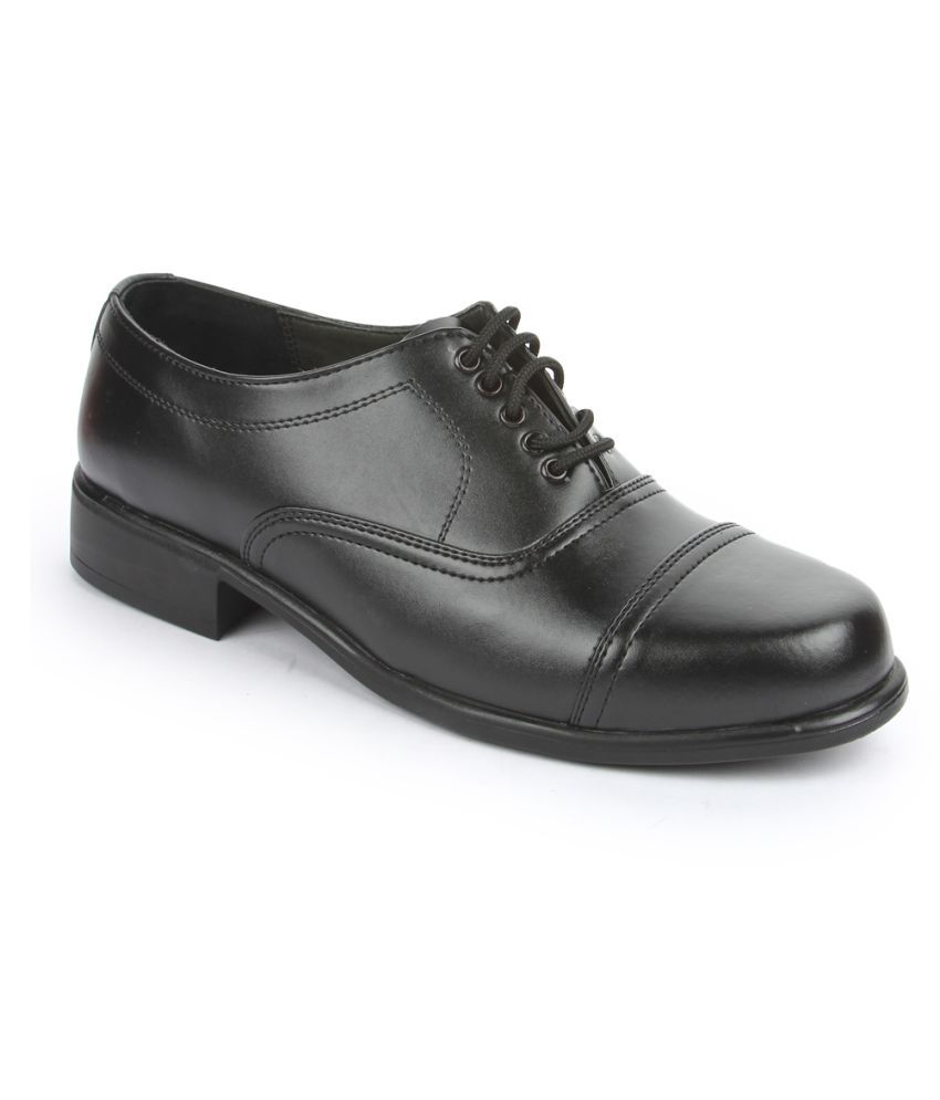 Fortune By Liberty Derby Black Formal Shoes