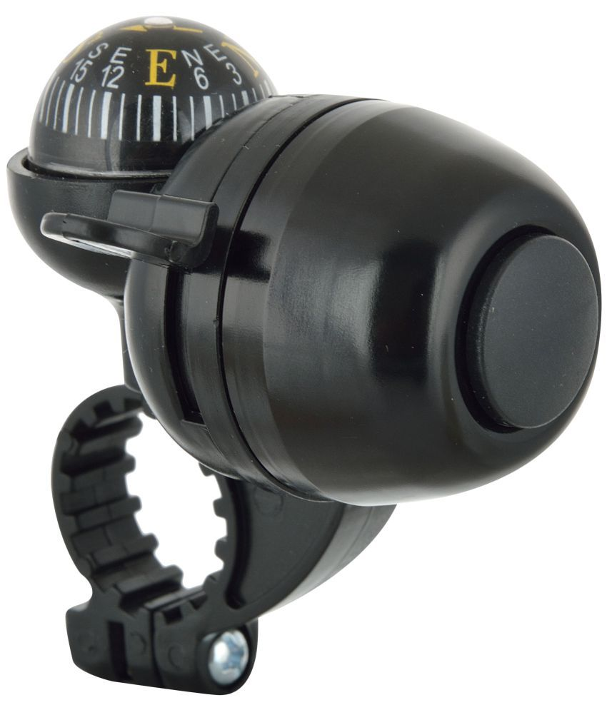 Dark Horse Bicycle Navigation Bell with Compass Black