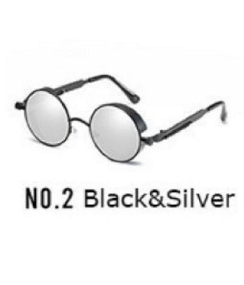 Swagger New Fashion Gothic Steampunk Sunglasses Men Polarized Women Sun Glasses Goggles Sunglasses Retro Round Mirror(21colors)