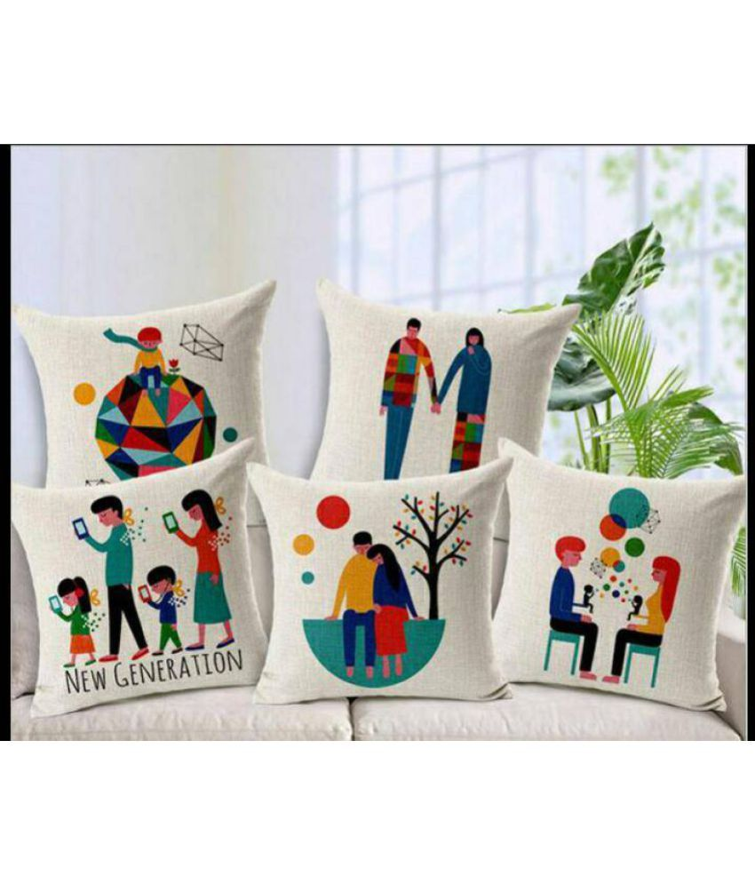 3a404824af362 KD Sales Set of 5 40X40 cm (16X16) Cushion Covers Superheroes Themed  Buy  Online at Best Price