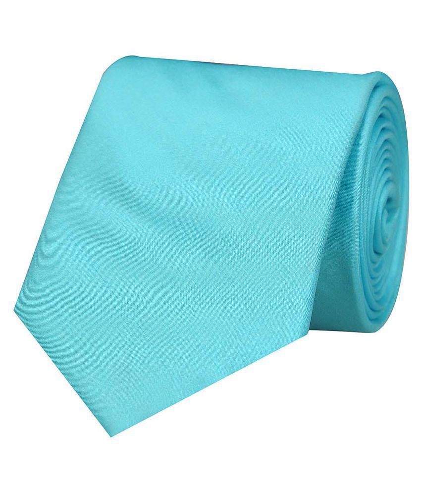 Tiekart Blue Plain Silk Necktie