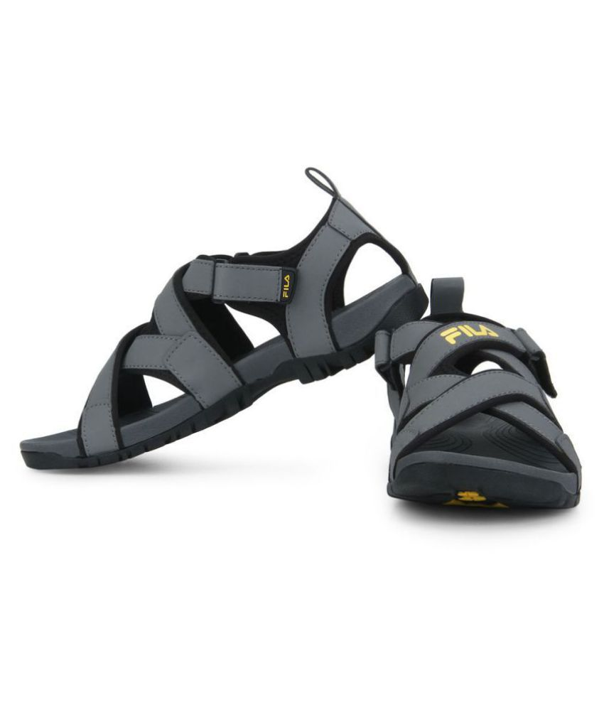 0f8a58098585 Fila PACIFIC II Gray Mesh Floater Sandals - Buy Fila PACIFIC II Gray Mesh  Floater Sandals Online at Best Prices in India on Snapdeal