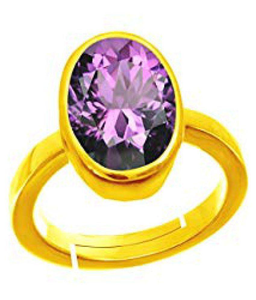 Jaipur Gemstone 18k Gold Amethyst Ring