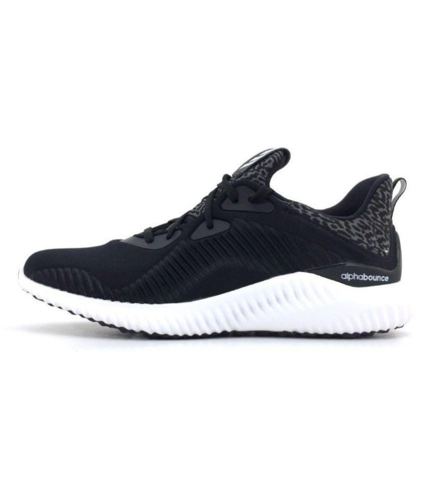 ffbb8f699fe7a ADIDAS PERFORMANCE Alphabounce Black Running Shoes - Buy ADIDAS PERFORMANCE Alphabounce  Black Running Shoes Online at Best Prices in India on Snapdeal