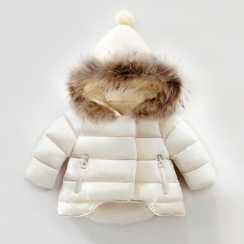 Changing Destiny Children's White warm jacket