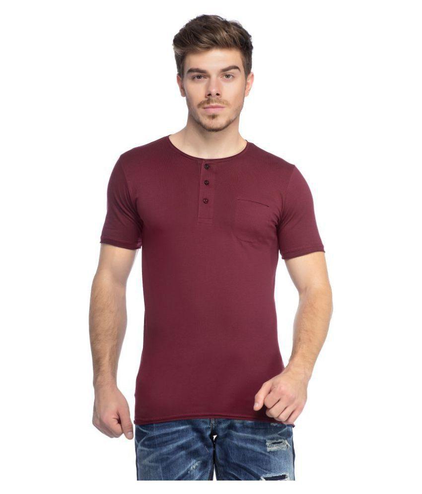 Tinted Maroon Half Sleeve T-Shirt