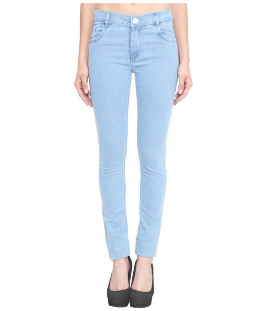 Masterly Weft Cotton Lycra Jeans - Blue