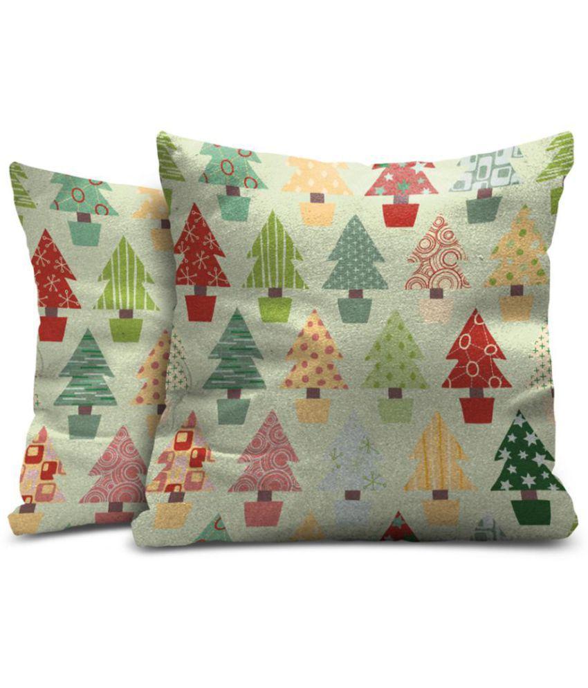 Mukesh Handicrafts Set of 2 Velvet Cushion Covers 60X60 cm (24 X 24)