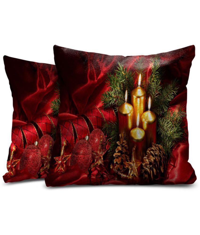 Mukesh Handicrafts Set of 2 Velvet Cushion Covers 40X40 cm (16X16)