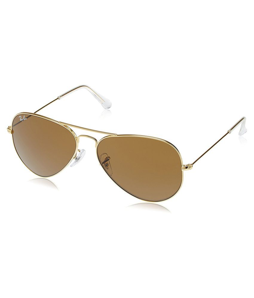 Ray Ban Avaitor Brown Aviator Sunglasses ( RB-302600 )