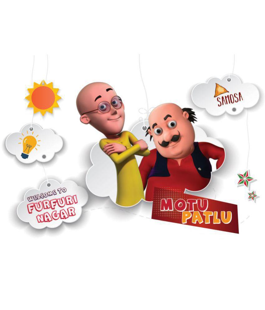 Asian Paints Wall Ons Motu Patlu Xl Mind Games Removable Cartoon