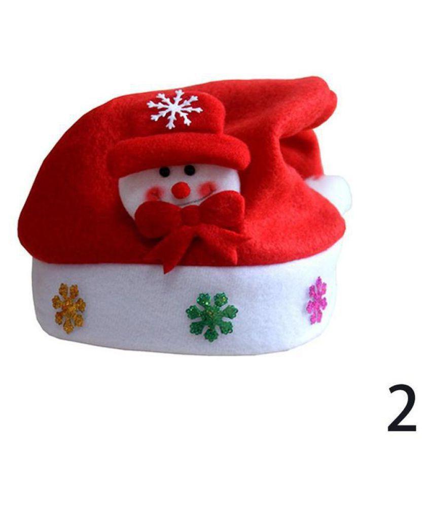 1 Pcs Nonwoven Reindeer Snowman Santa Claus Christmas Decorations Kids Hats  Festival Xmas Gifts Children Caps - Buy 1 Pcs Nonwoven Reindeer Snowman  Santa ... eac521d8ccf9