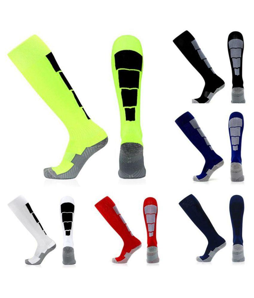 1 Pair Men Boys Soft Sports Football Soccer Knee High Long Socks