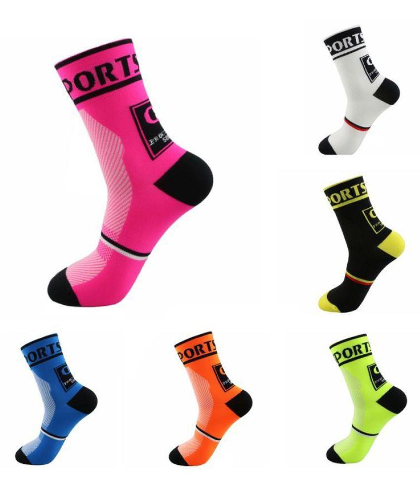 1 Pair Women Men Breathable Cycling Sports Socks