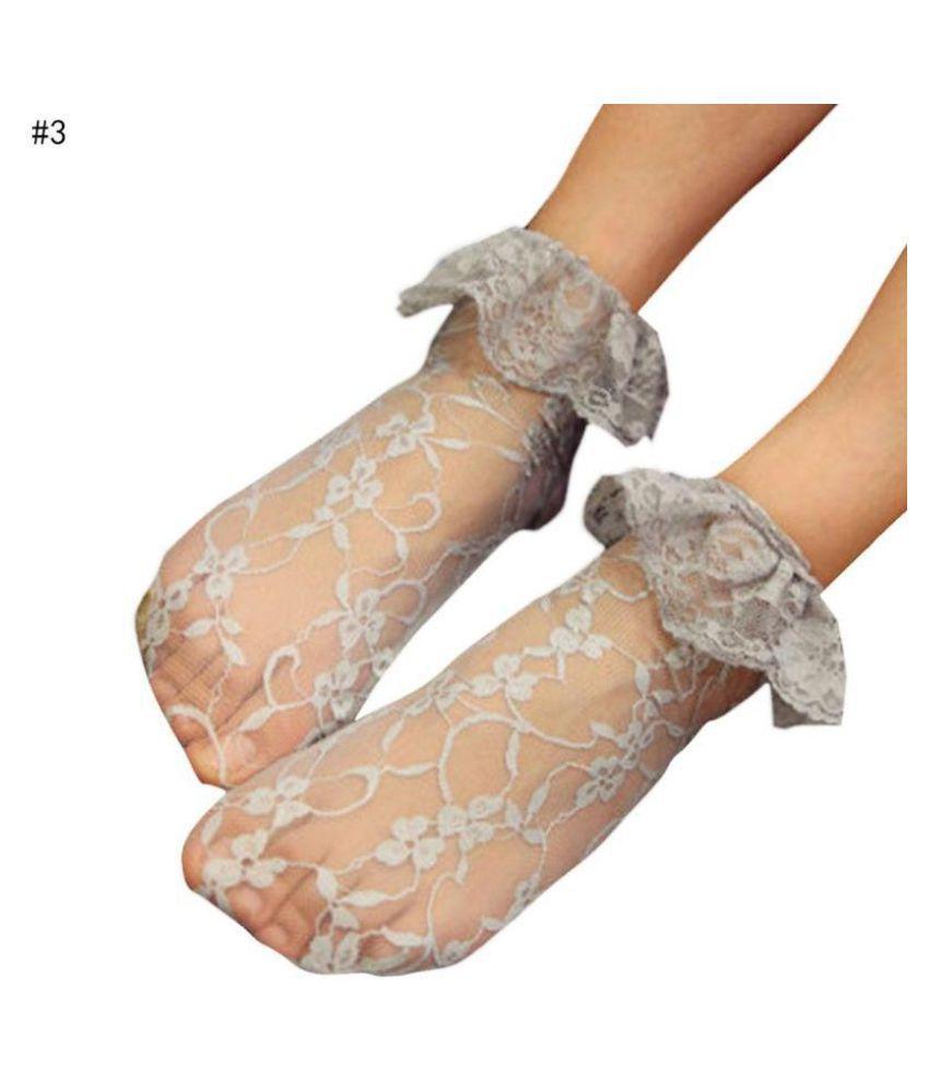 Women Lace Hollow Sweet  Heap Short Thin  Socks