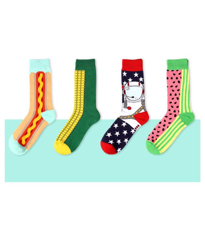 Fashion Socks Long Colorful Dot Cotton Soks Long Happy Socks Mens Dress Sock